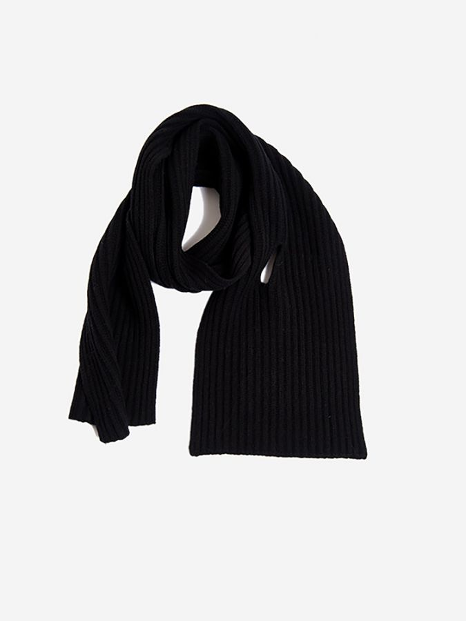 The Ribbed Scarf - Frost - Black