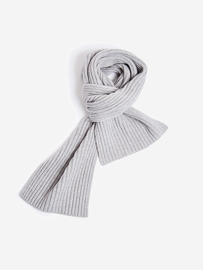 The Ribbed Scarf - Frost - Light Heather Gray