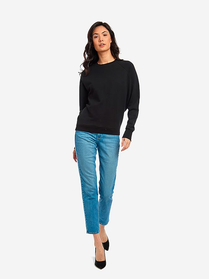The French Terry Sweatshirt - Surf - Black