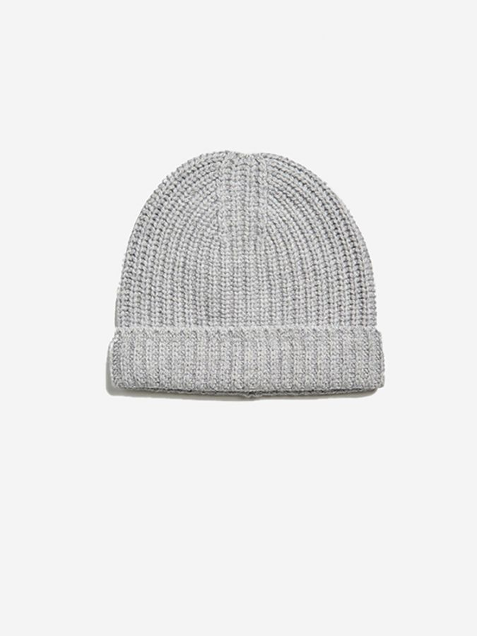 The Ribbed Beanie - Frost - Light Heather Gray