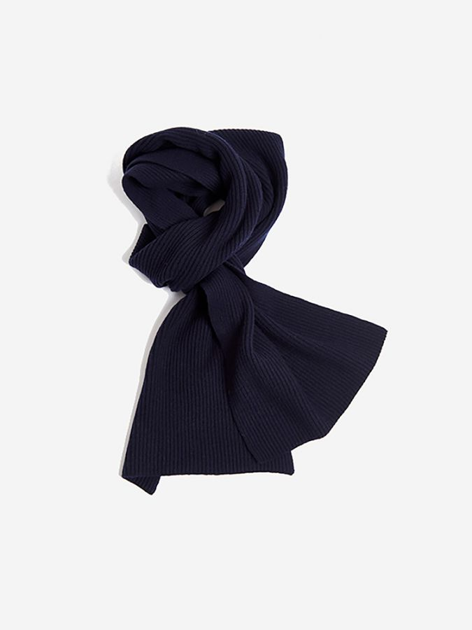 The Ribbed Scarf - Walker - Navy