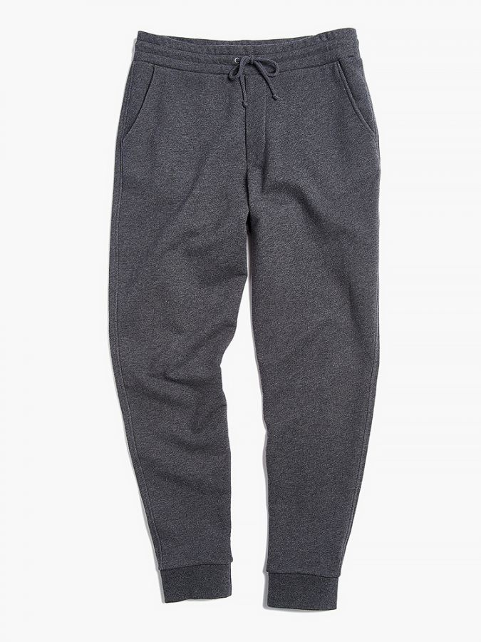 The French Terry Sweatpant - Hooper - Charcoal Heather