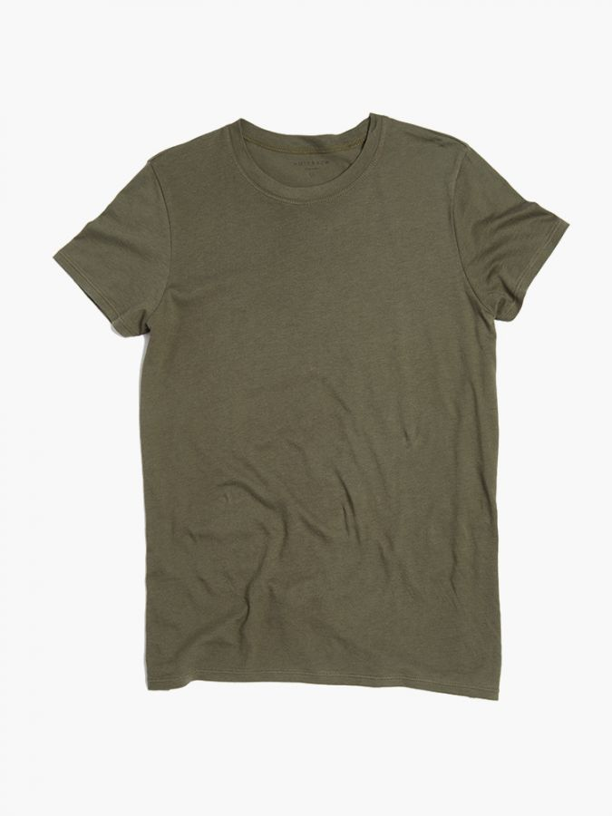 Fitted Crew - Marcy - Military Green