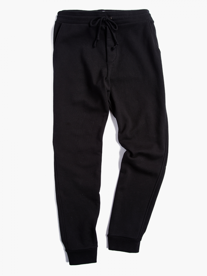 The French Terry Sweatpant - Hooper - Black