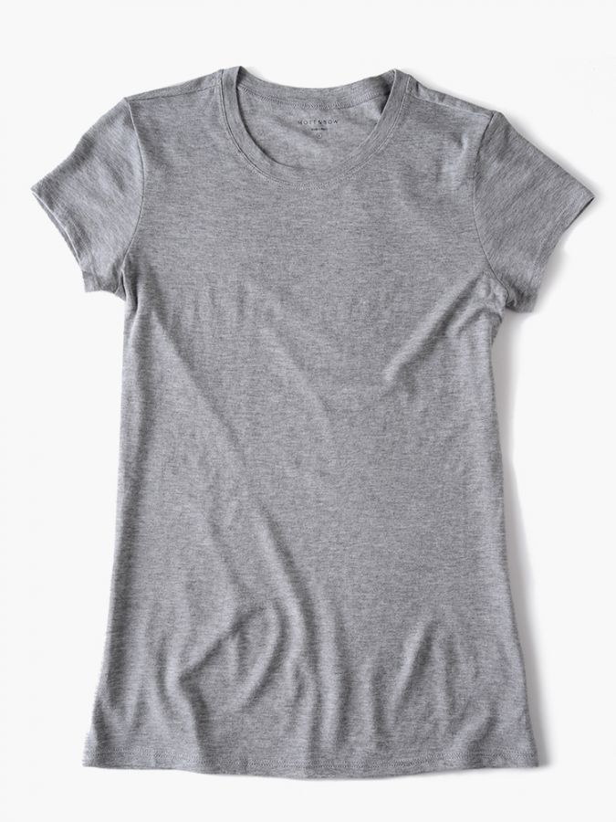 Fitted Crew - Marcy - Heather Gray
