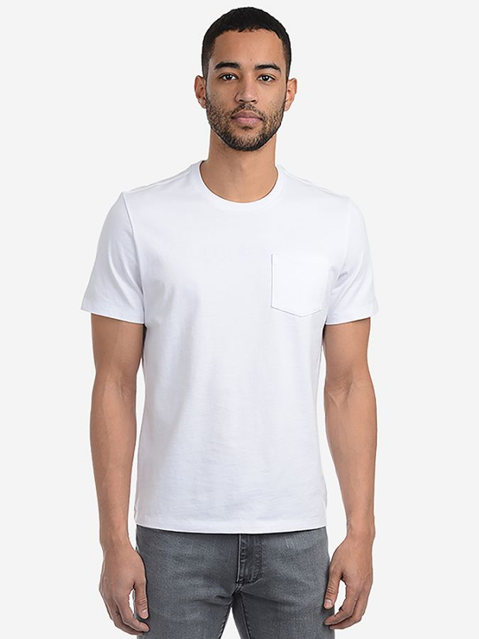 Heavyweight Pocket Tee - Carlton - White