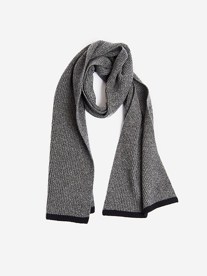 The Ribbed Scarf - Walker - Salt/Pepper Marl