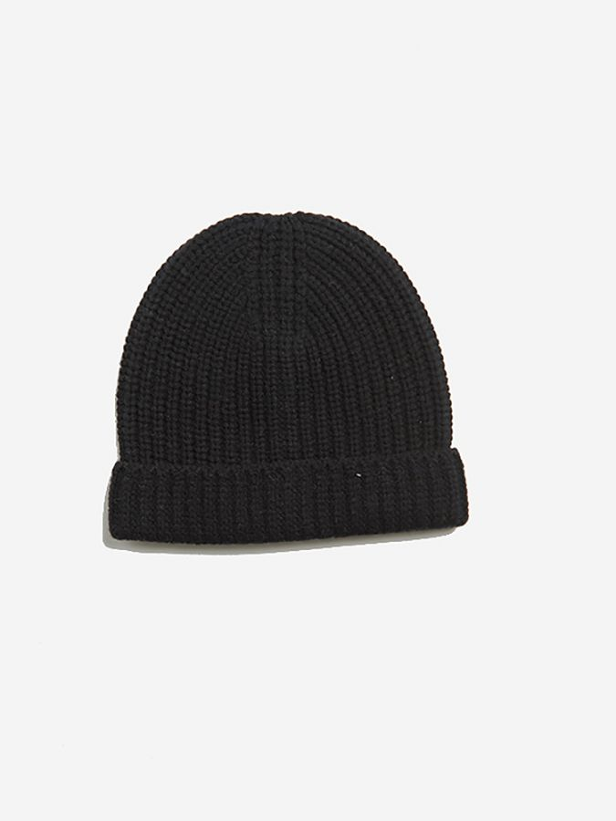 The Ribbed Beanie - Frost - Black