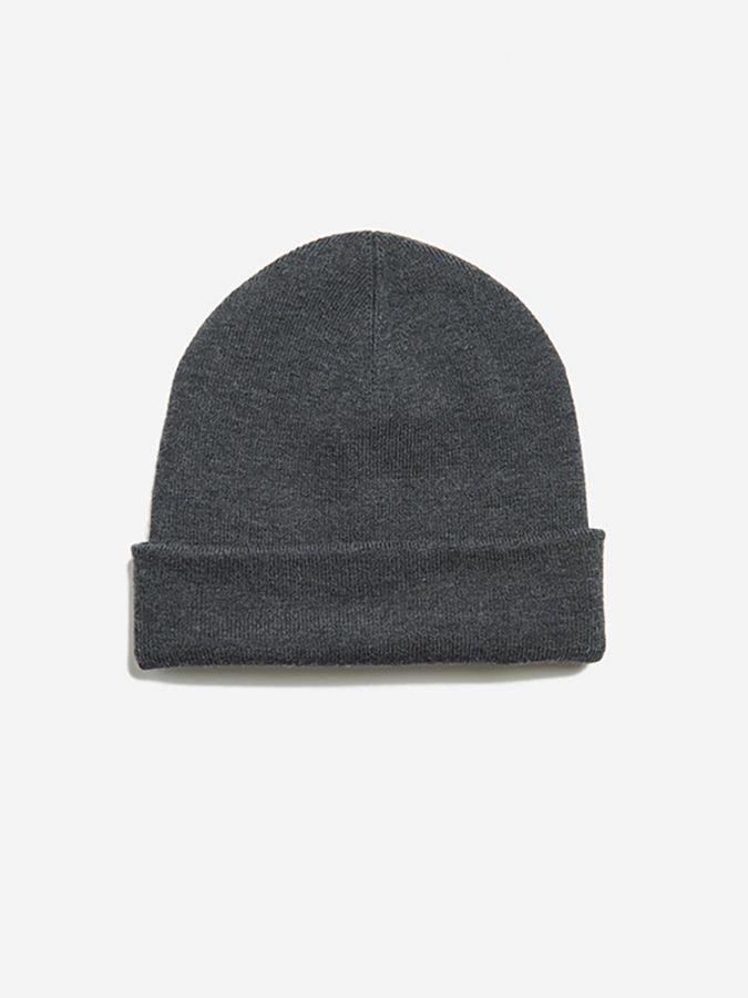 The Ribbed Beanie - Walker - Charcoal