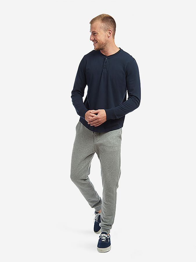 The French Terry Sweatpant - Hooper - Heather Gray