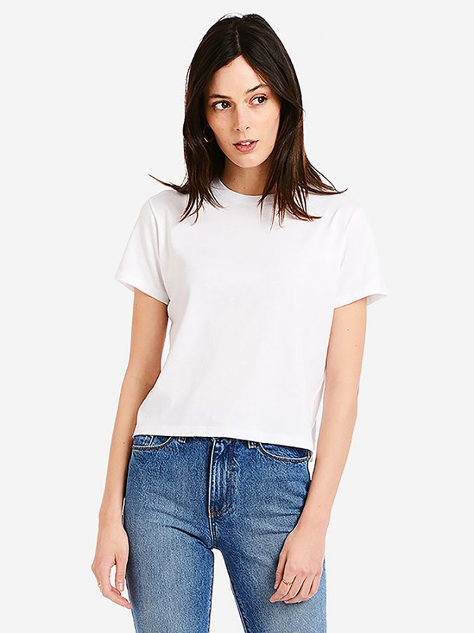 Boxy Semi-Crop - Noble - White