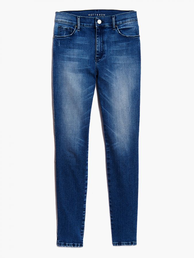 High Rise Skinny - Moore - Medium Blue