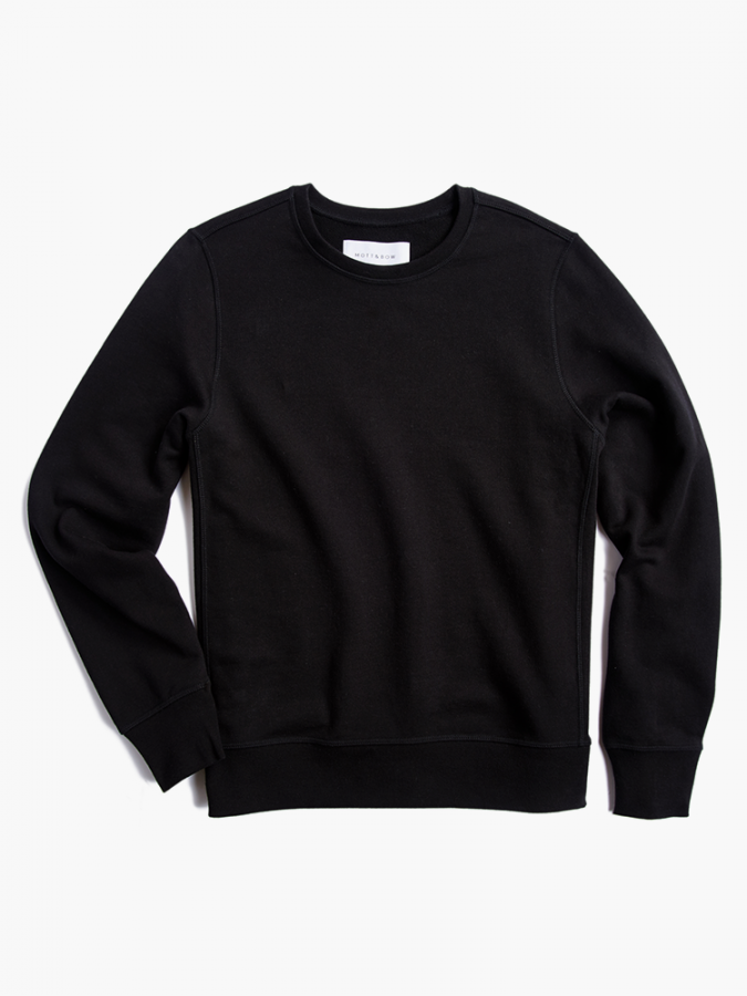 The French Terry Sweatshirt - Hooper - Black
