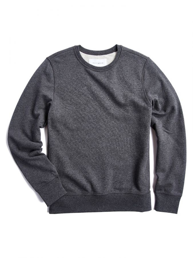 The French Terry Sweatshirt - Hooper - Charcoal Heather