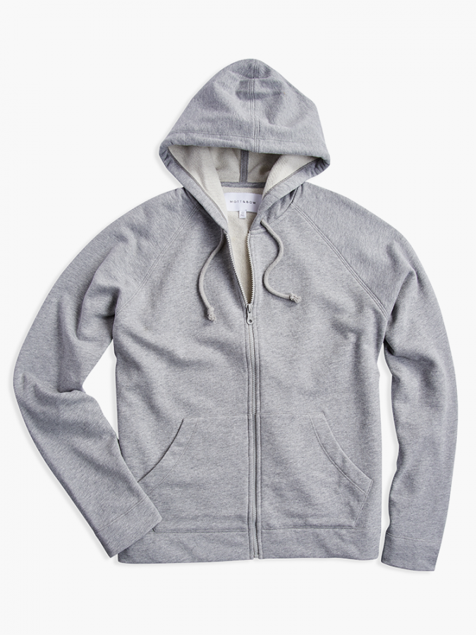 The French Terry Hoodie - Hooper - Heather Gray