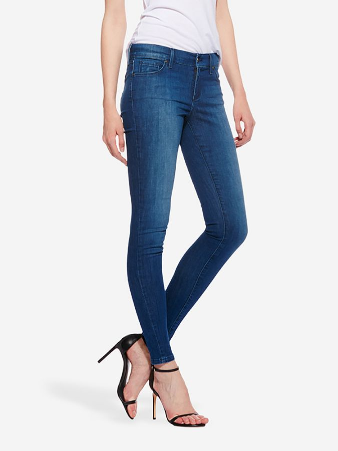 Mid Rise Skinny - Carmine - Medium Blue