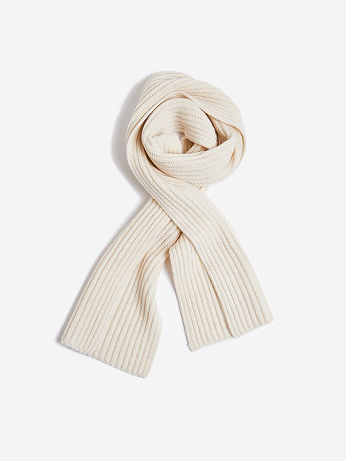 The Ribbed Scarf - Frost - Snowflake
