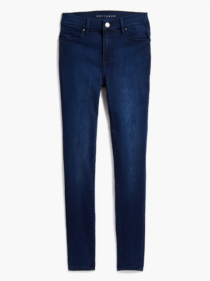 High Rise Skinny - Ann - Medium/Dark Blue