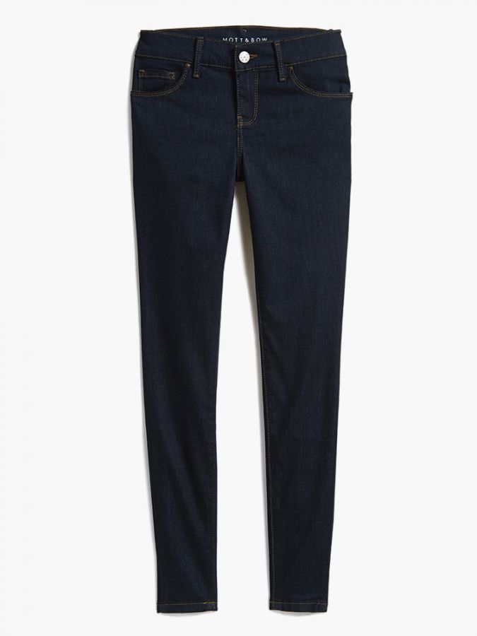 High Rise Skinny - Grove - Dark Blue Matte
