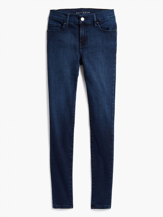 High Rise Skinny - Moore - Medium/Dark Blue