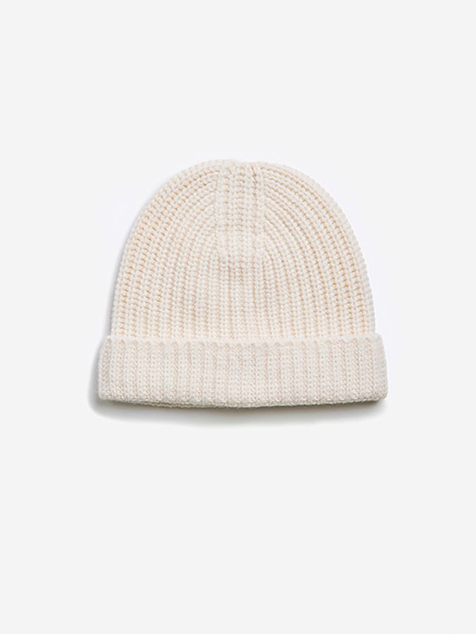 The Ribbed Beanie - Frost - Snowflake