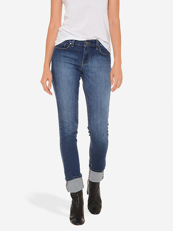 Slim Boyfriend - Monroe - Medium/Dark Blue