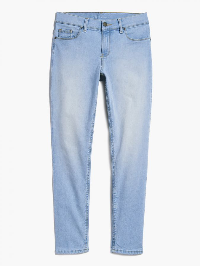 Slim Boyfriend - Ridge - Light Blue