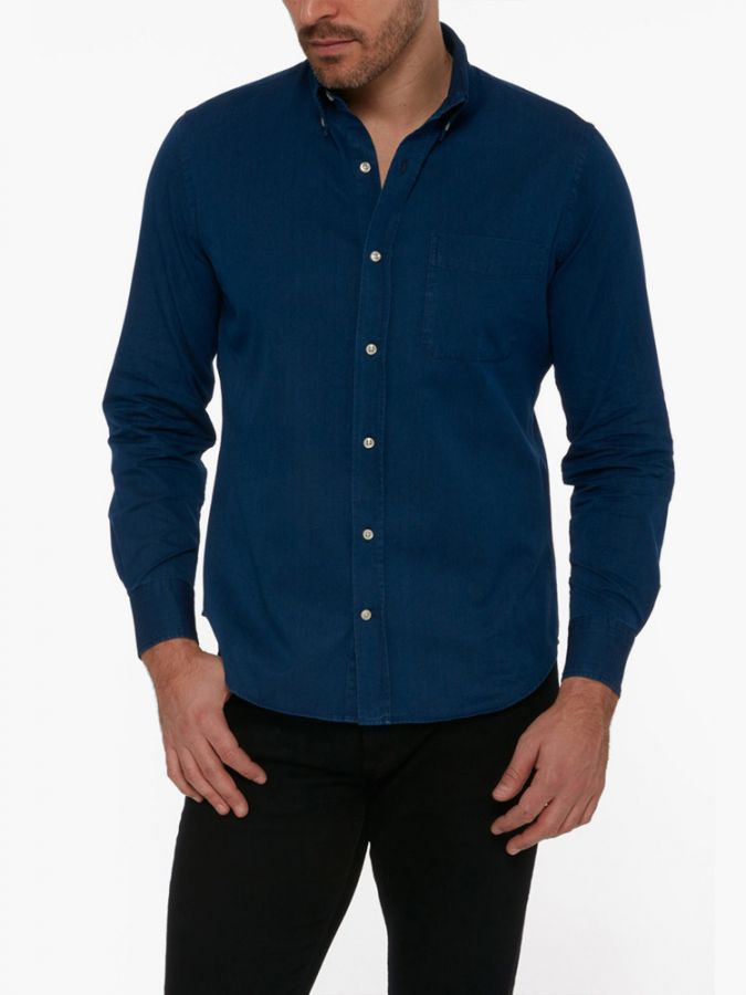 Slim Button Down - Wythe - Dark Blue