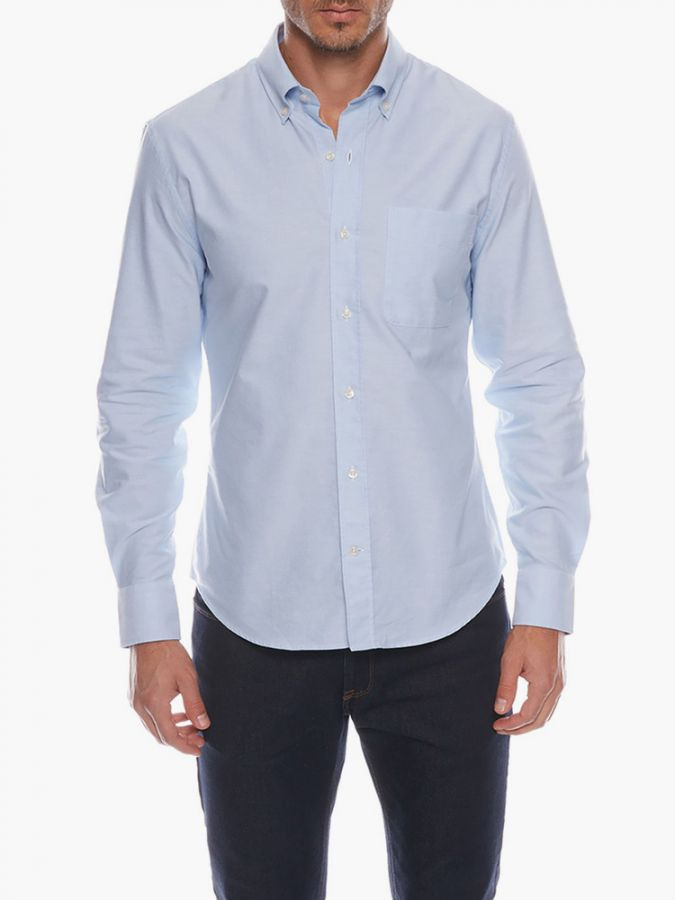 Slim Button Down Collar - Kent - Light Blue