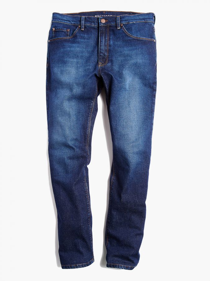 Straight - Hubert - Medium/Dark Blue