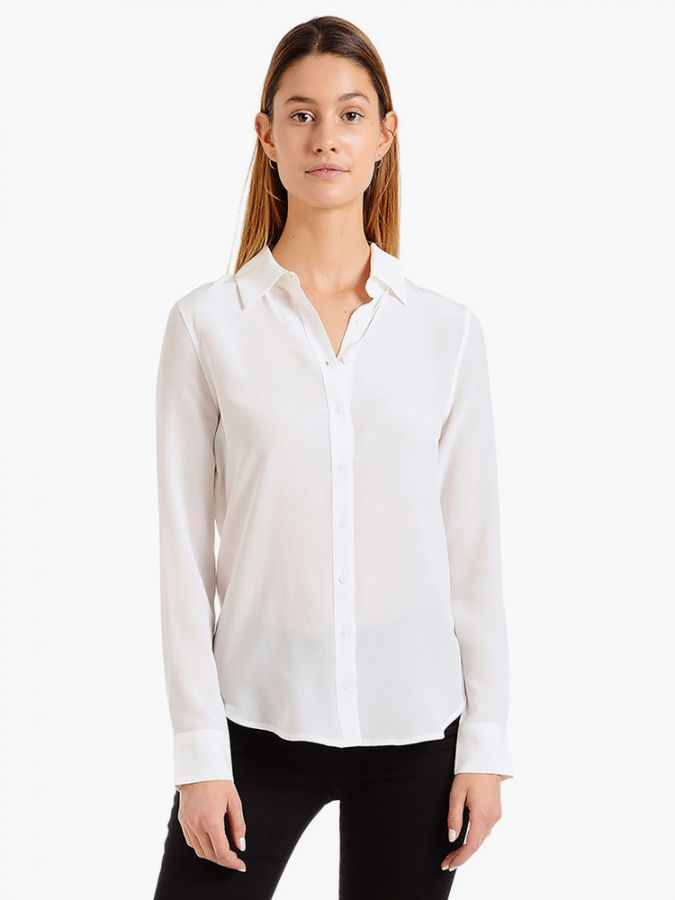 Silk Slim Fit Shirt - Harper - Ivory